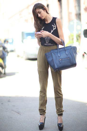 Pooled pants, platform shoes, and Celine