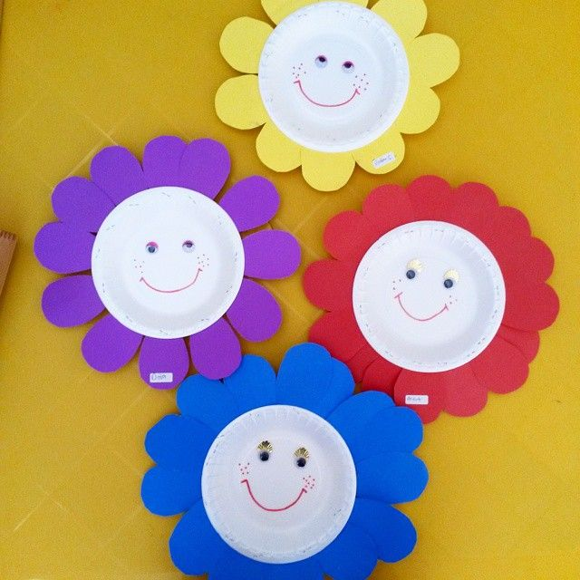 paper plate flower craft 2