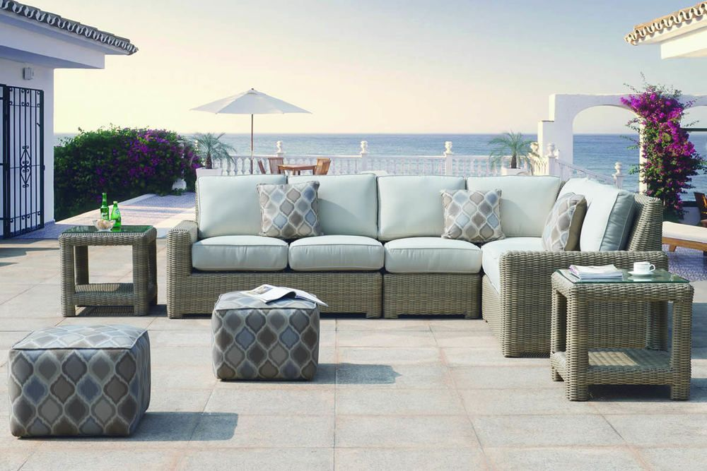 Furniture · Erwin U0026 Sons Napa Outdoor Wicker Sectional ...