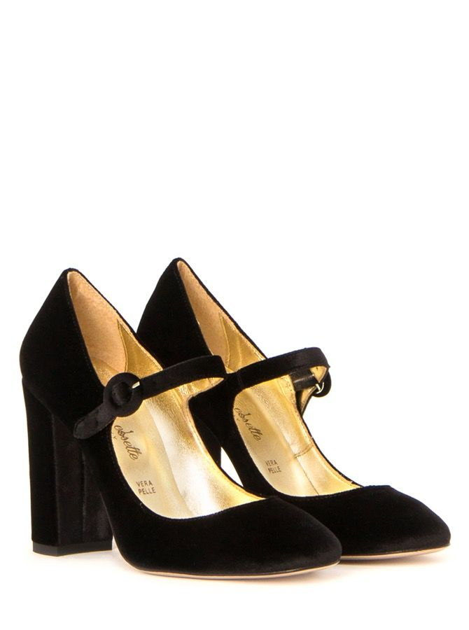 Madame Cosette - Mary Jane pumps velvet nero - Madame Cosette FW16 17  Collection a2ef793daff