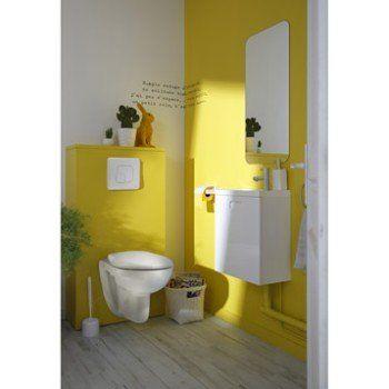 Pack WC suspendu bâti universel, SENSEA Remix Leroy Merlin Deco - meuble pour wc suspendu leroy merlin