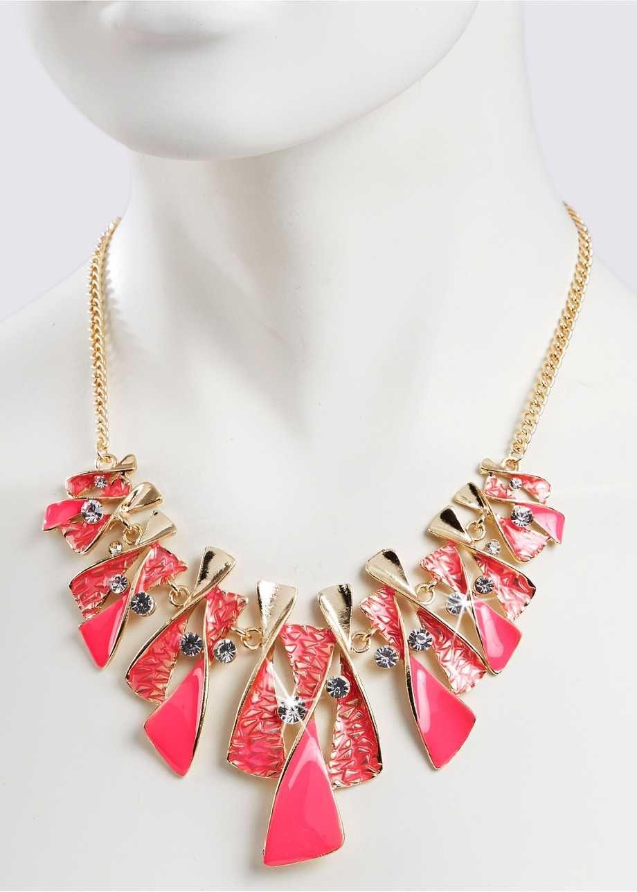 "Halsband ""Aileen"", bpc bonprix collection, pink/guld"
