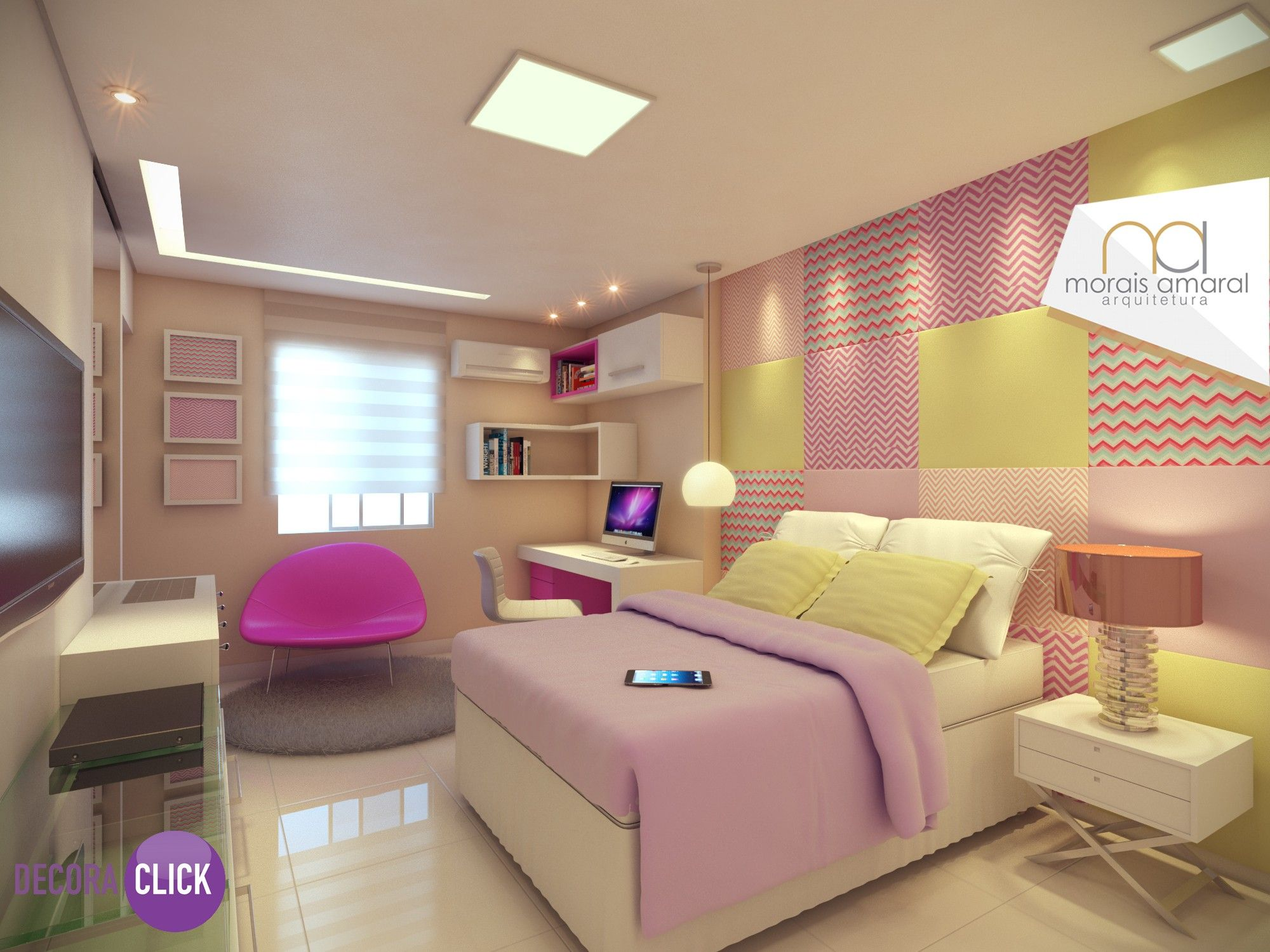 Decora o de interiores quartos linda decora o de for Ideas e interiores
