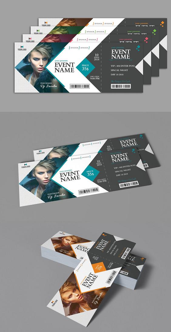 Event Ticket Event Tickets Design Graphic Design Brochure Ticket Design
