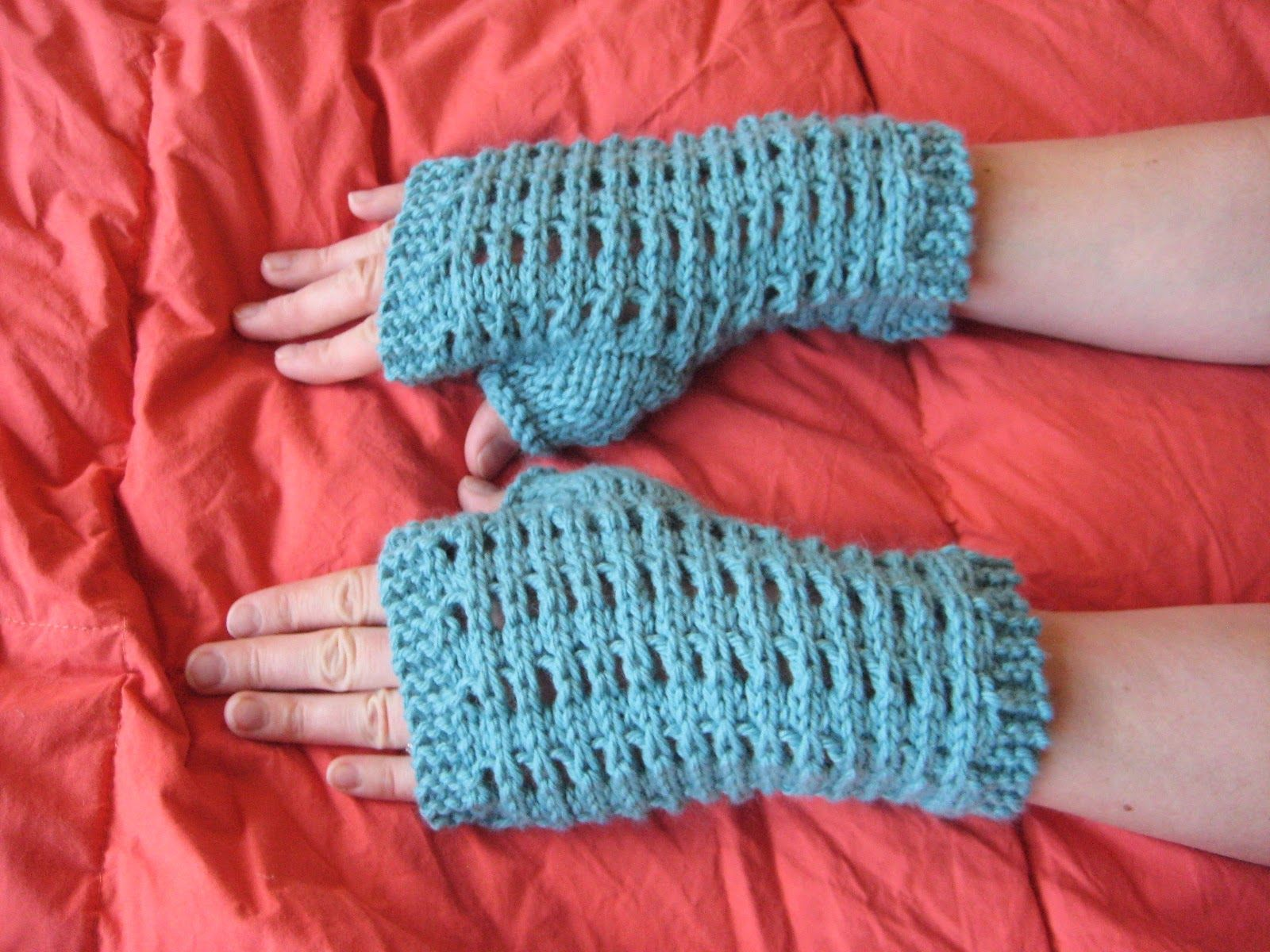 Slip-Stitch Mesh Fingerless Gloves Balls to the Walls Knits, A ...