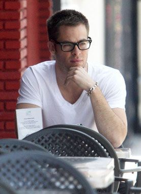 3f54aa41a9 Chris Pine in Ray Ban Eyeglasses if son ever needs reading glasses ...