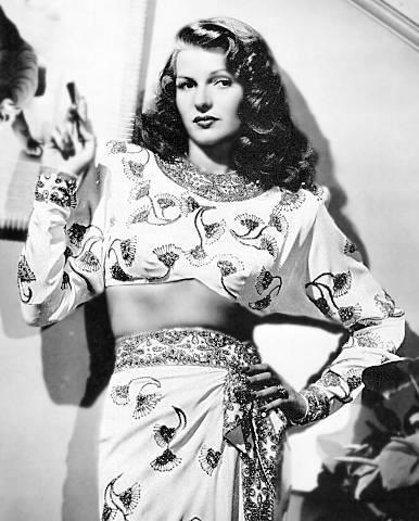 Rita Hayworth, wearing Hollywood glamor well.