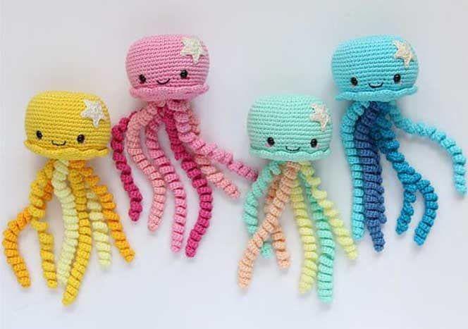 Großer Octopus - Häkelanleitung | Tiere häkeln anleitung kostenlos ... | 467x664