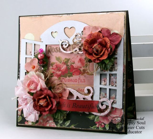 Gypsy Soul Laser Cuts: Life Is Beautiful All Occasion Greeting Card by Ginny