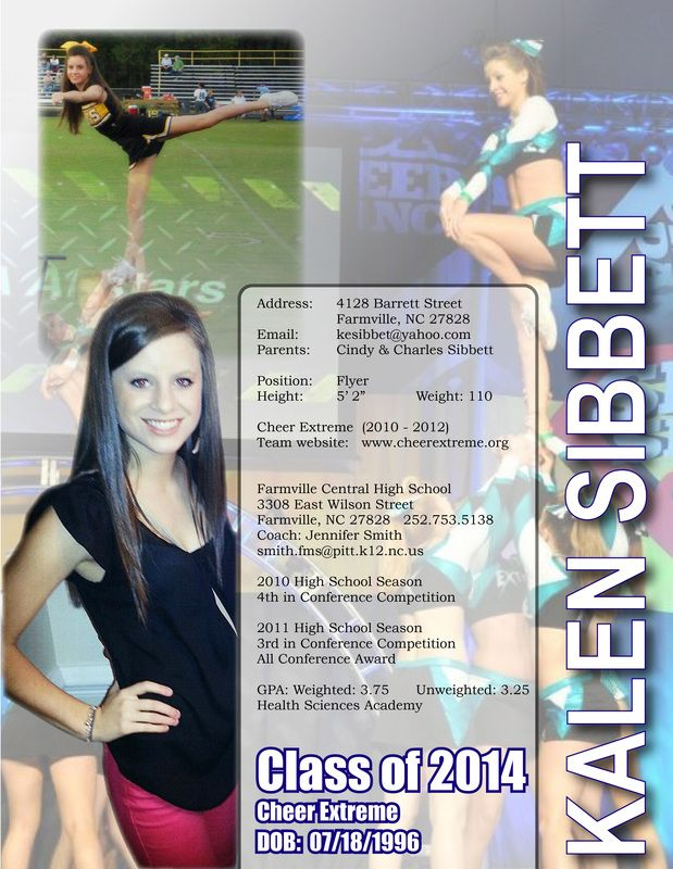 Cheerleading Resume Cheerleading Cheer Extreme College Resume