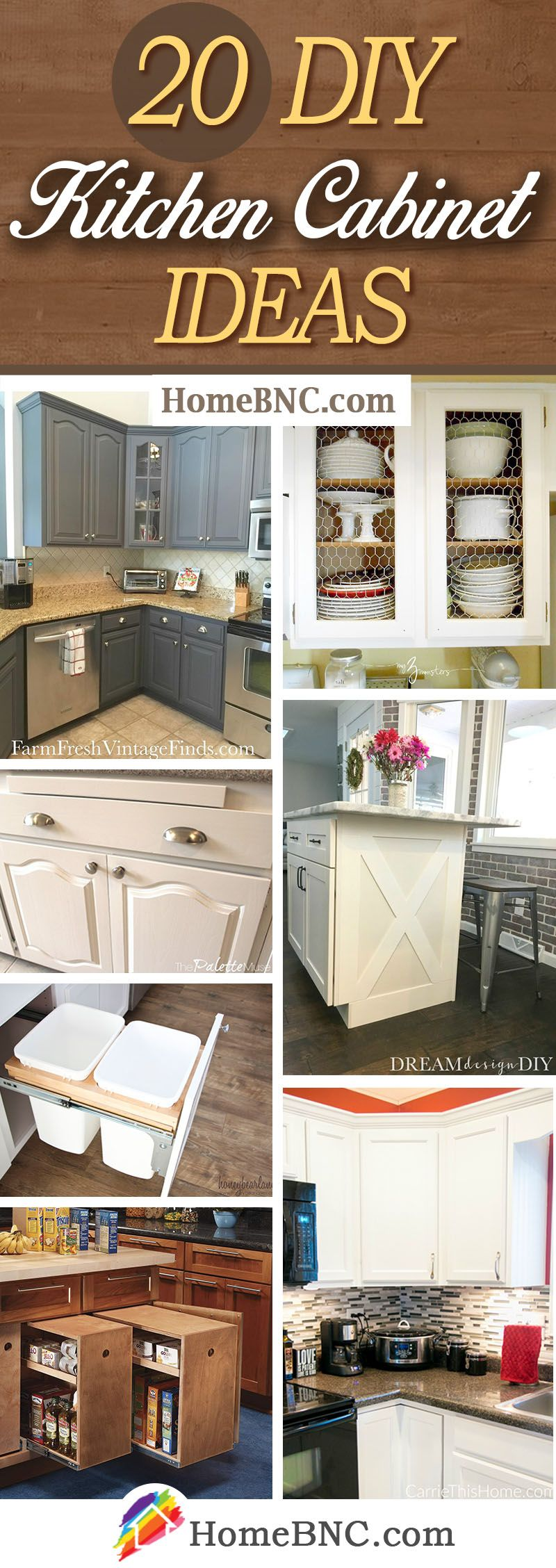 9 Stylish DIY Kitchen Cabinets that are Budget friendly and Easy ...