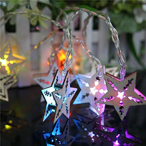 yarbar wooden craft star fairy string light battery operated fairy lights christmas click image to review more details this link participates in amazon