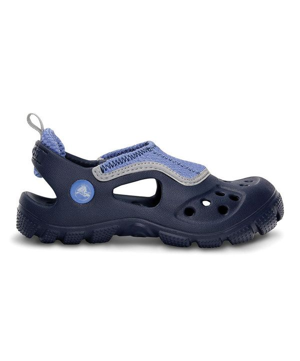 258bb1a876fdc Look at this Crocs Navy   Sea Blue Micah II Sandal - Toddler   Kids on   zulily today!