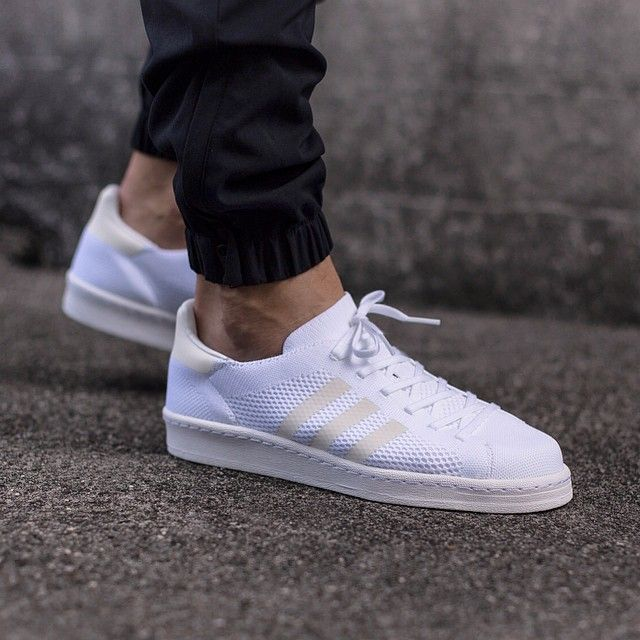 uppers pushes the envelope on a classic Adidas look. I love all-white shoes,  I wish they came as a set with a bleach kit sometimes, but I do love them  and ...