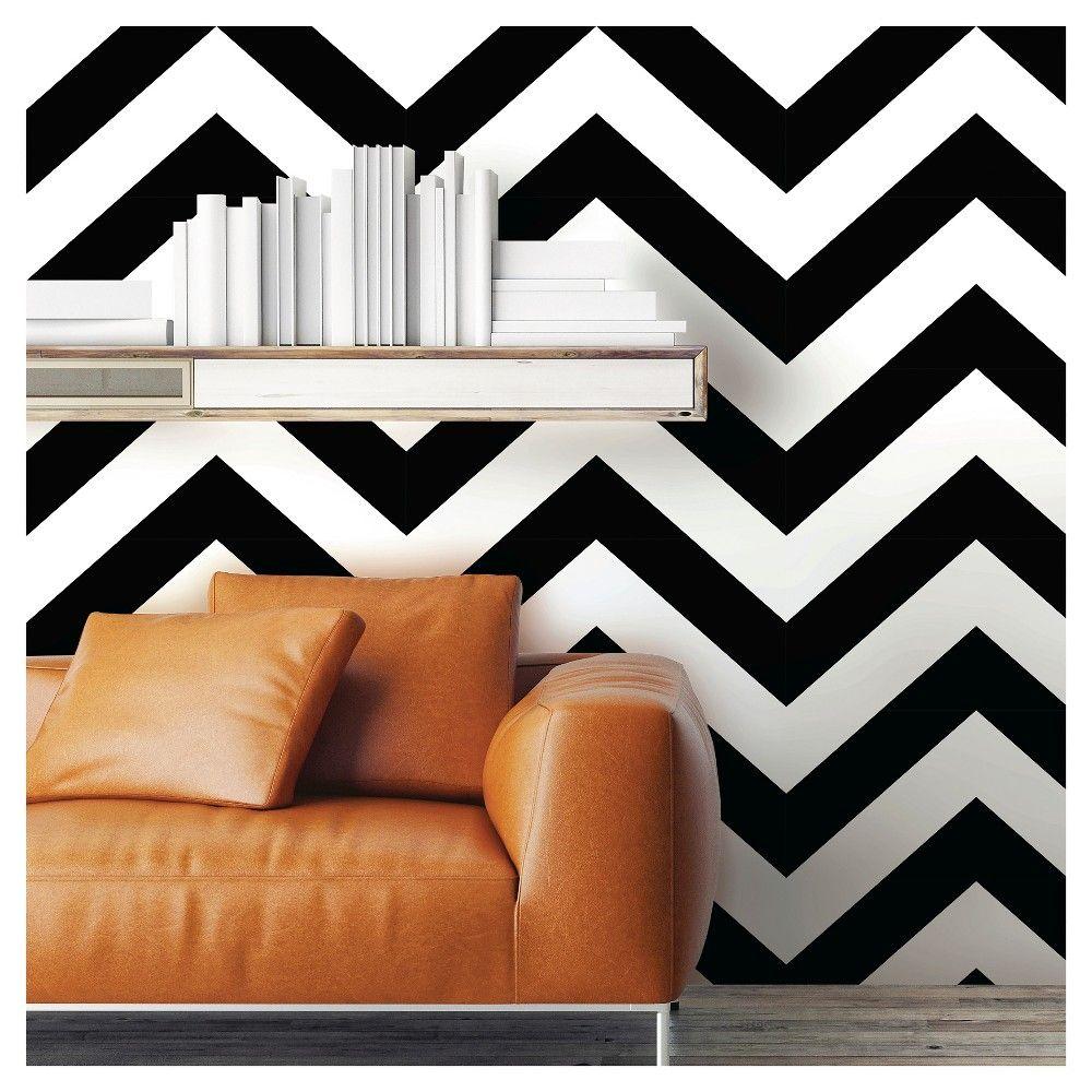 Devine Color Zig Zag Peel Stick Wallpaper Black White Home Decor College Wall Decor Zig Zag Wall
