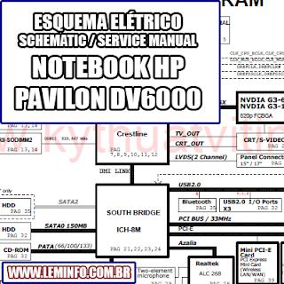 Lem Informatica Esquema Eletrico Notebook Laptop Hp Pavilion Dv600 Hp Pavilion Laptop Esquema