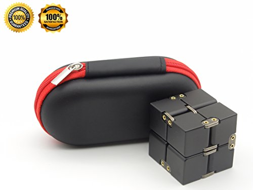 Aluminum Alloy Handheld Fidget Toys  Desk  Cube Relieve Stress Toy