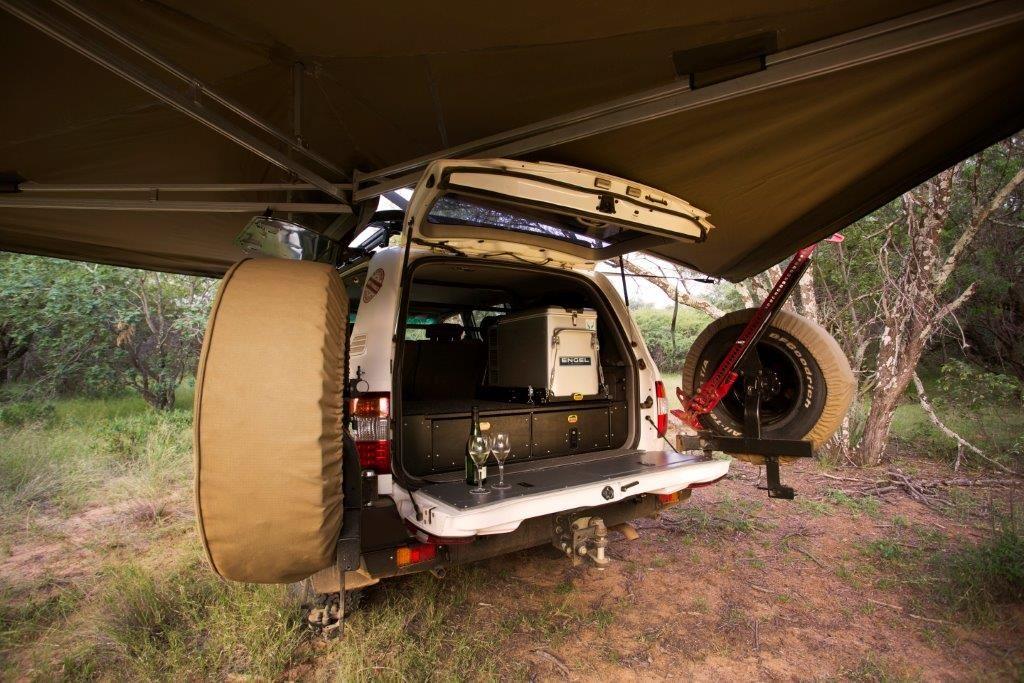 Ostrich Wing Awning Series 3 Land Cruiser 80 Awning Land Cruiser