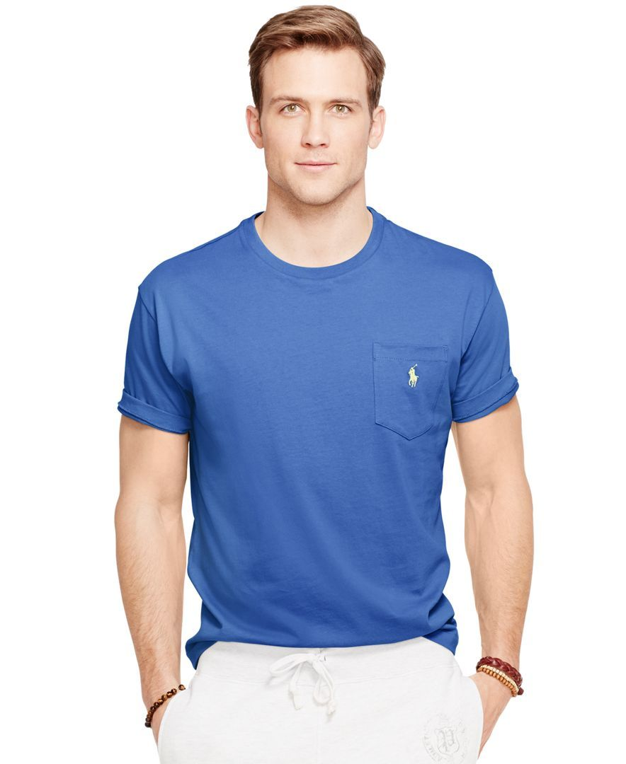15b55651d724b Polo Ralph Lauren Crew-Neck Pocket T-Shirt