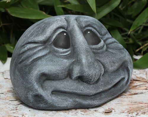 de pierre visage sculpture en décoration jardin JET résistant