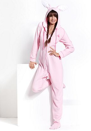 Jenni Pajamas Hooded Bunny Ear Footed PJs- Can I tell you how much I want  these  50b85a4b9