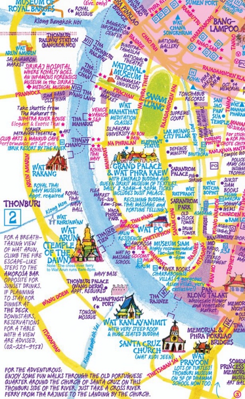 MapCarte 224365 Bangkok by Nancy Chandler 1974present MapCarte