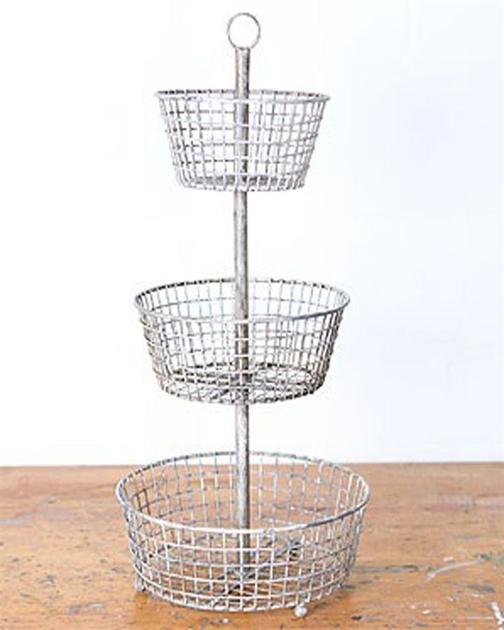 Captivating Tiered Baskets To Hold Fruit And Veggies