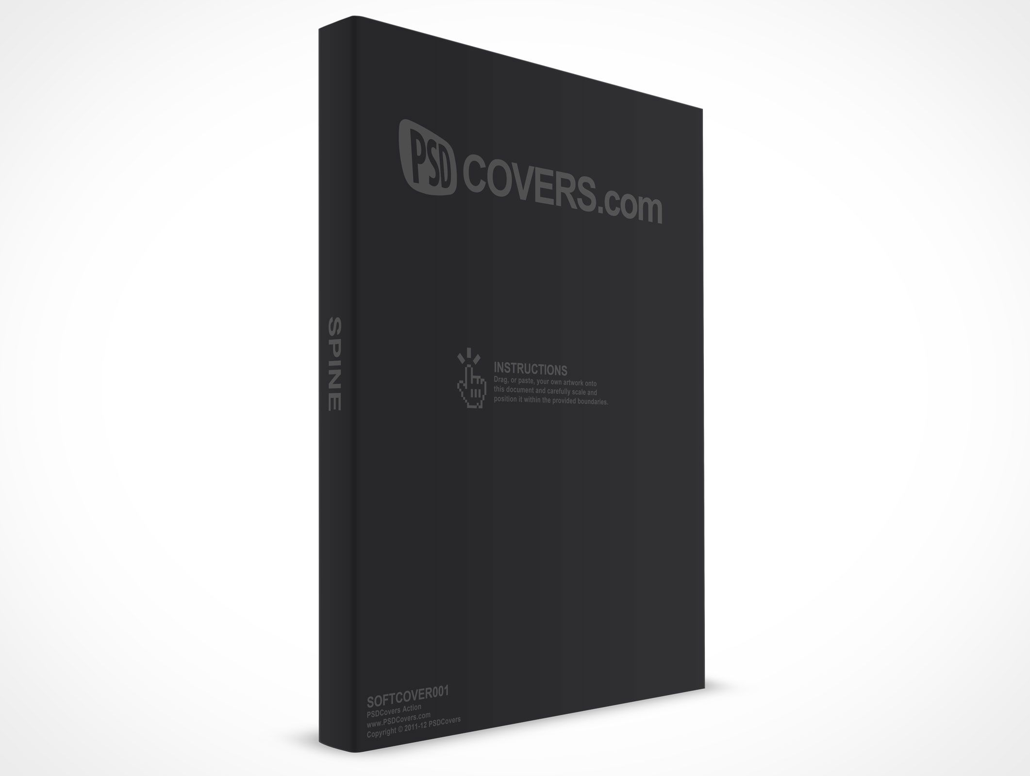 300 Page Softcover Handbook Ebook Cover Ebook Cover Psd Mockup Psd