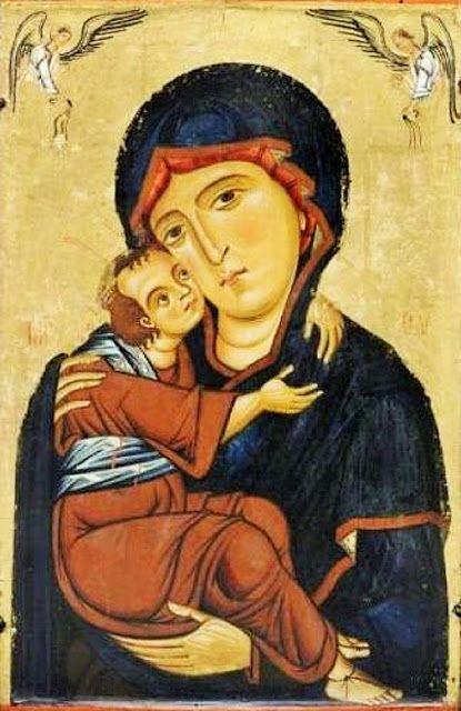 Berlinghiero Berlinghieri - Madonna con Bambino e Santi (dettaglio) - 1230 circa - Museo d'Arte di Cleveland