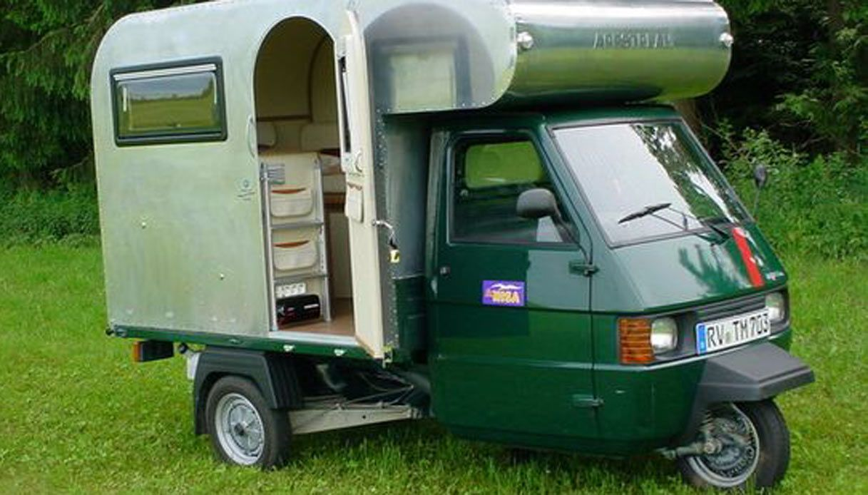 Nouveau Le apecar per viaggiatori solitari | Caravan | Triporteur piaggio TH-21