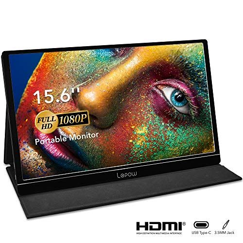 Portable Monitor  Lepow 156 Inch Full HD 1080P USB TypeC Computer Display IPS Eye Care