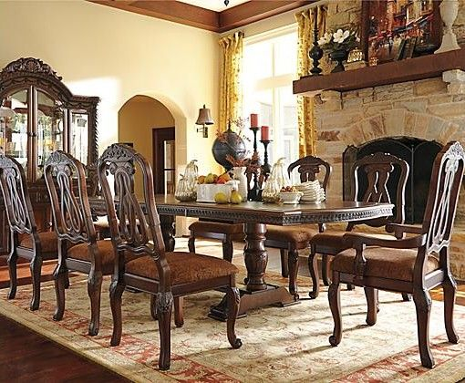 North Shore Table And Base Ashley Furniture Dining Dining Room Sets Dining Room Table Set
