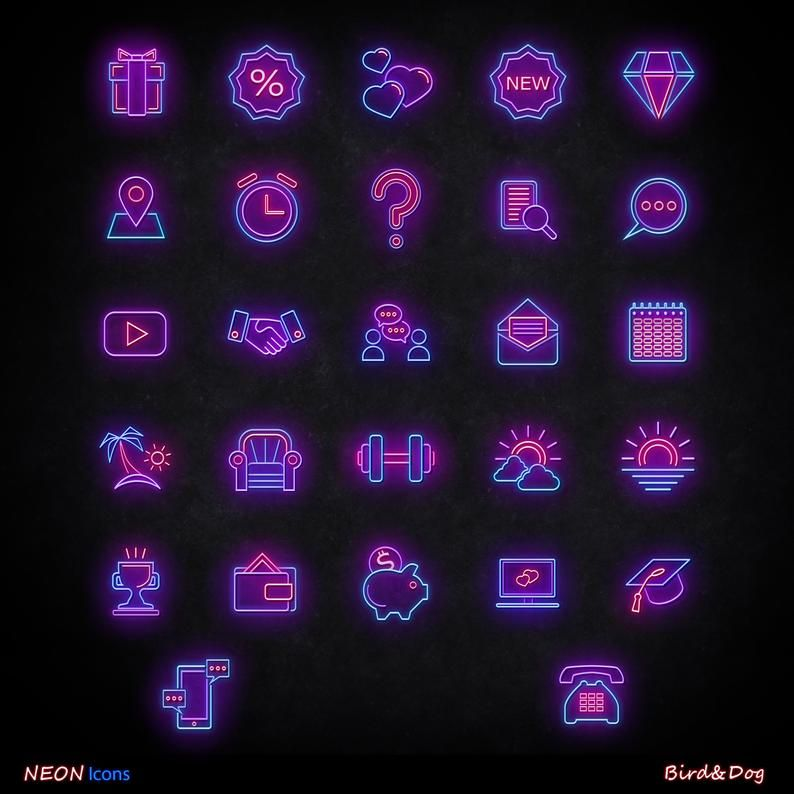 56 Instagram Story Highlight Covers Neon Icons For Etsy In 2020 Wallpaper Iphone Neon Purple Wallpaper Iphone Iphone Icon