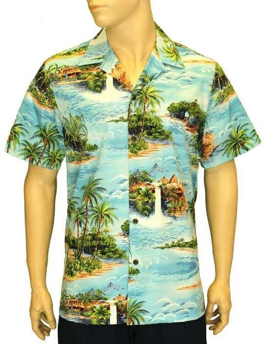 8b4f3967 Scenic Paradise Aloha Shirt Hakimo in 2019 | Men's Palm Tree Shirt ...