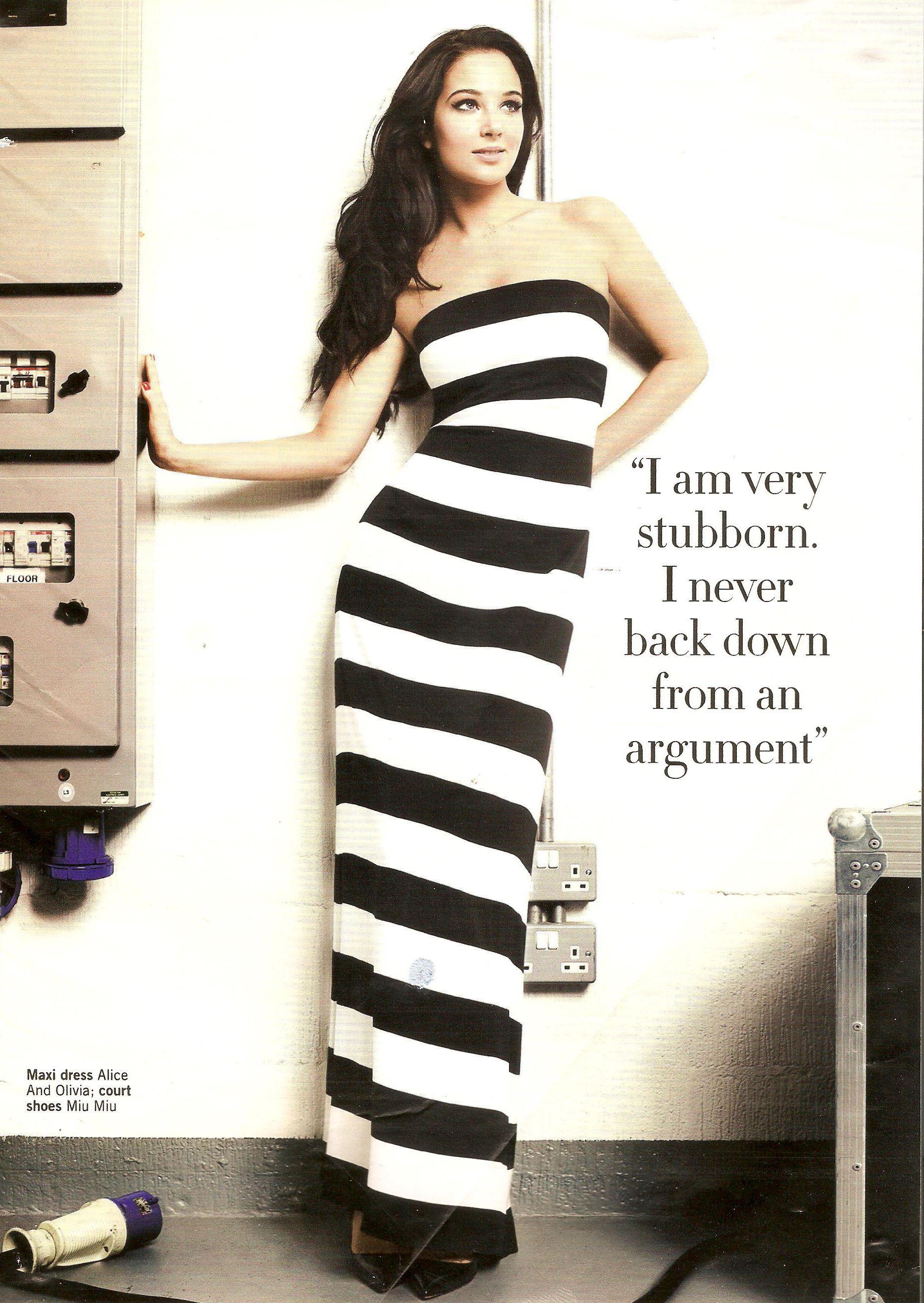 Ttulisa Contostavlos in dress by Alice & Olivia in Glamour magazine
