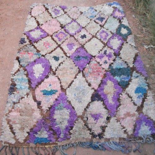 Vintage Moroccan Boucherouite Rag Rug Contemporary Design Ebay