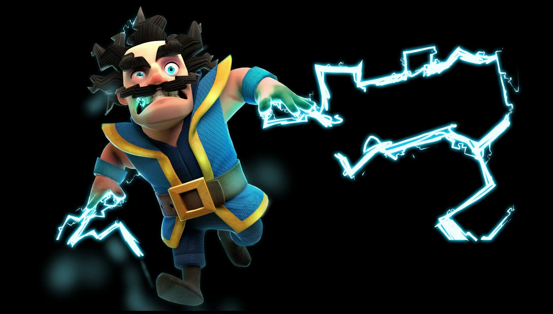 Electro Wizard Wallpaper,clash Royale, Game