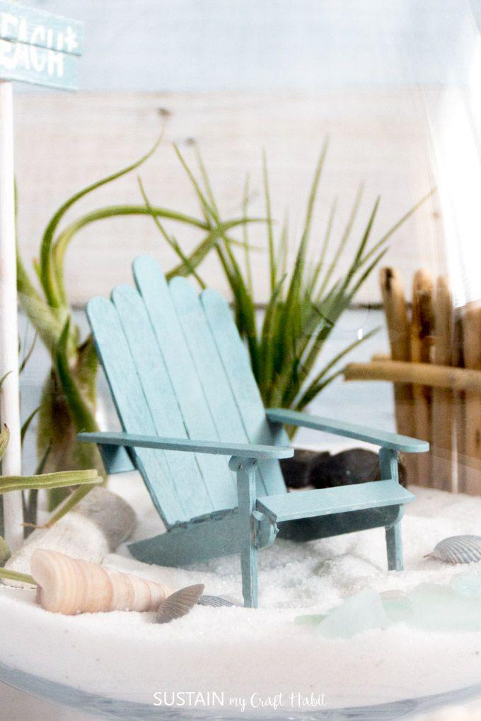 Adorable Mini Adirondack Chairs Fairy Adirondack