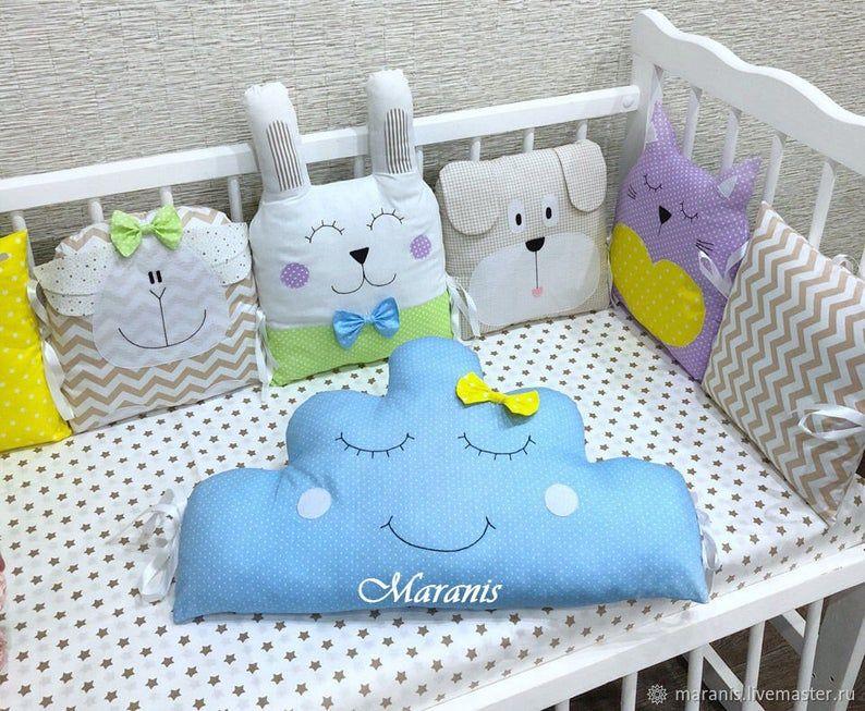 Diy Pig Pillow Crib Bumper Pattern Easy To Make Pdf Bumper In Crib Animal Animals Bumper For Baby Pillow Pig For Baby Crib Crib Set Pattern Diy Crib Fish Pillow Animal Pillows