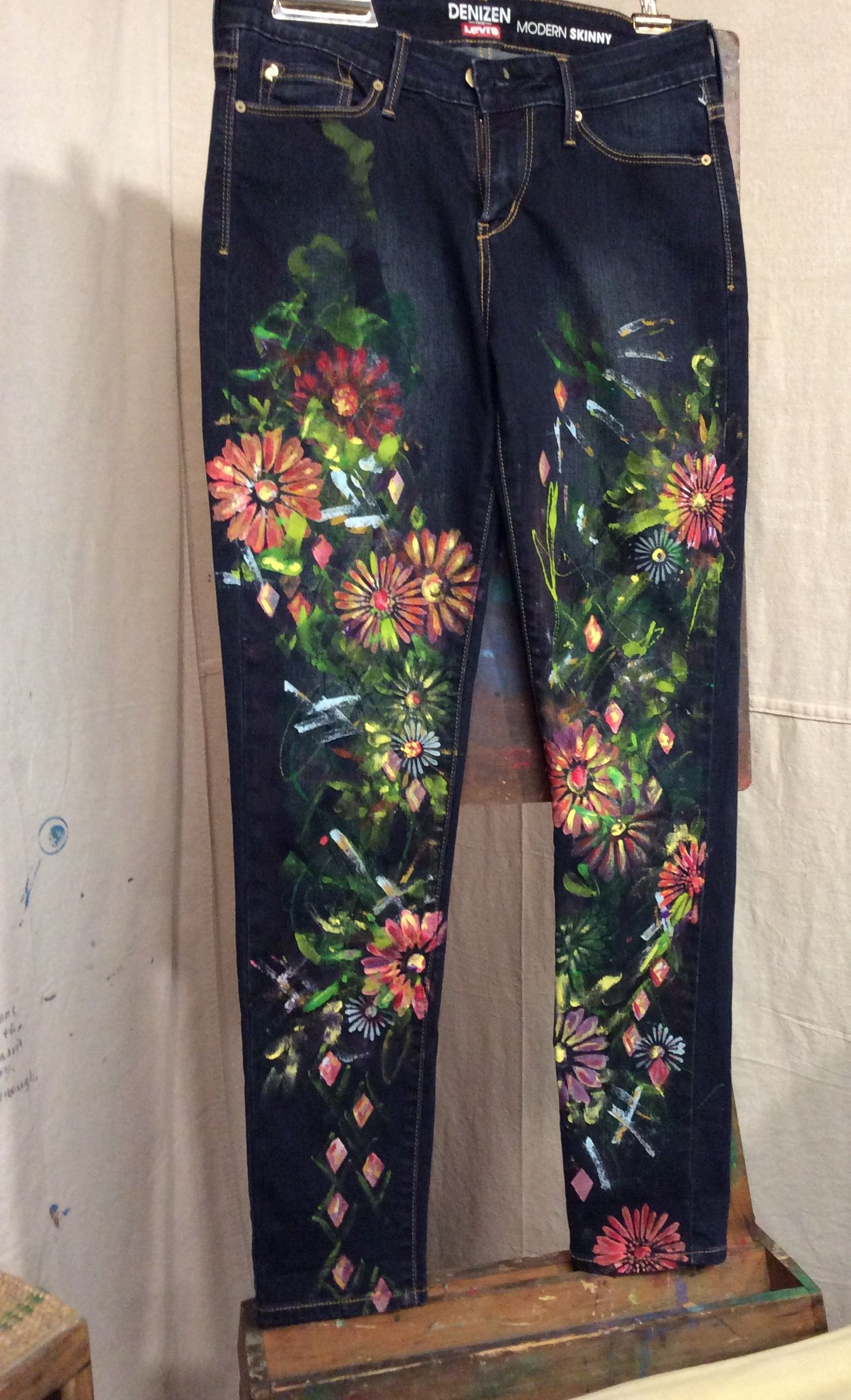 Pin By C Shimko On Hand Painted Jeans In 2019 Painted