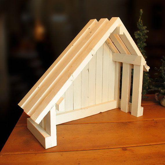 nativity creche stable with slant roof for willow tree toit en pente nativit et cr che. Black Bedroom Furniture Sets. Home Design Ideas