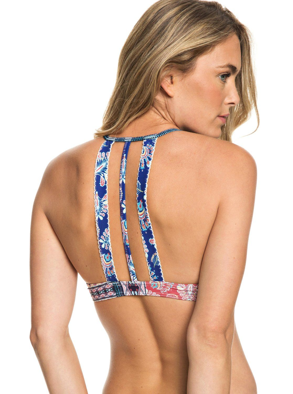7ed27c5da8 Bohemian Vibes Athletic Tri Bikini Top 191274455990 | Roxy | Roxy