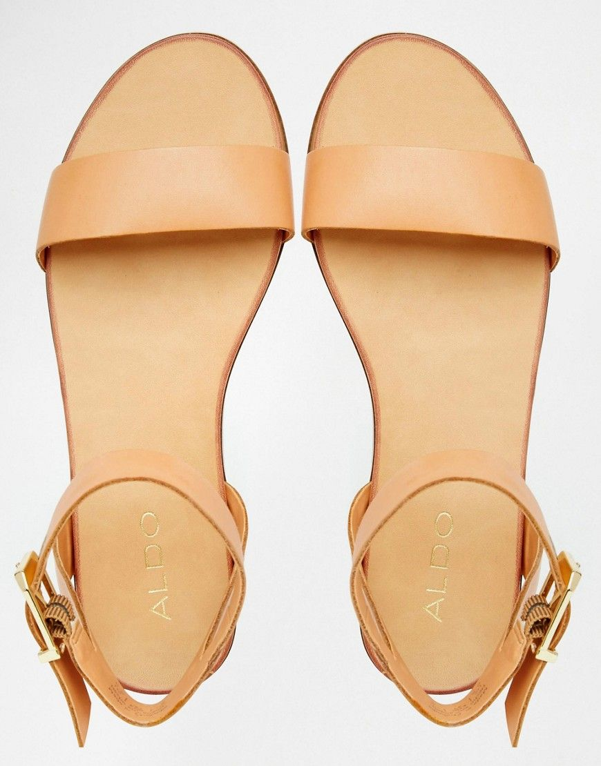 aa856fd82 Image 3 of ALDO Erina Nude Simple Strap Flat Sandals