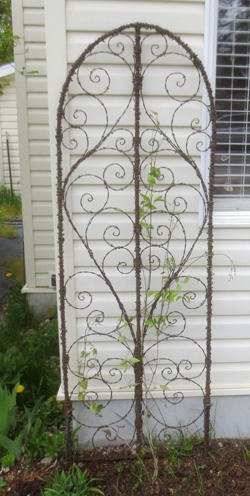 From The Dusty Raven Gallery Beautiful Spirillian Barbed Wire Garden Trellis U2026