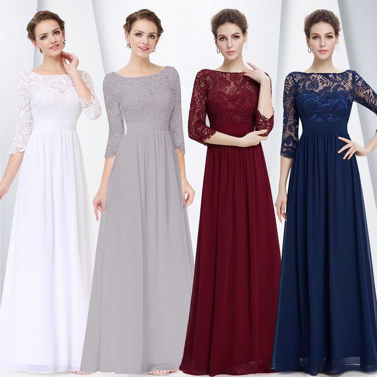 Ever pretty us long mother of the bride dresses lace formal evening