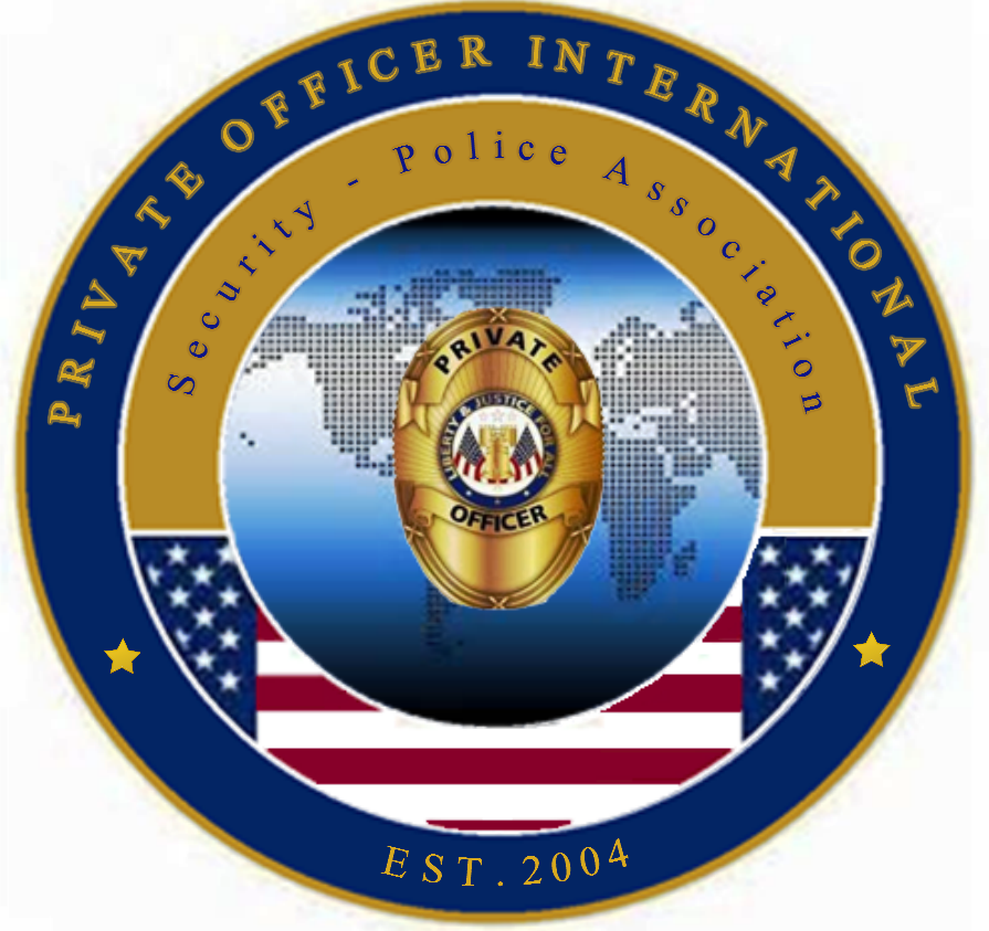 Private Officer Breaking News Poi Debuts New Logo Privateofficer Com Security Officer Training Security Officer Private Security