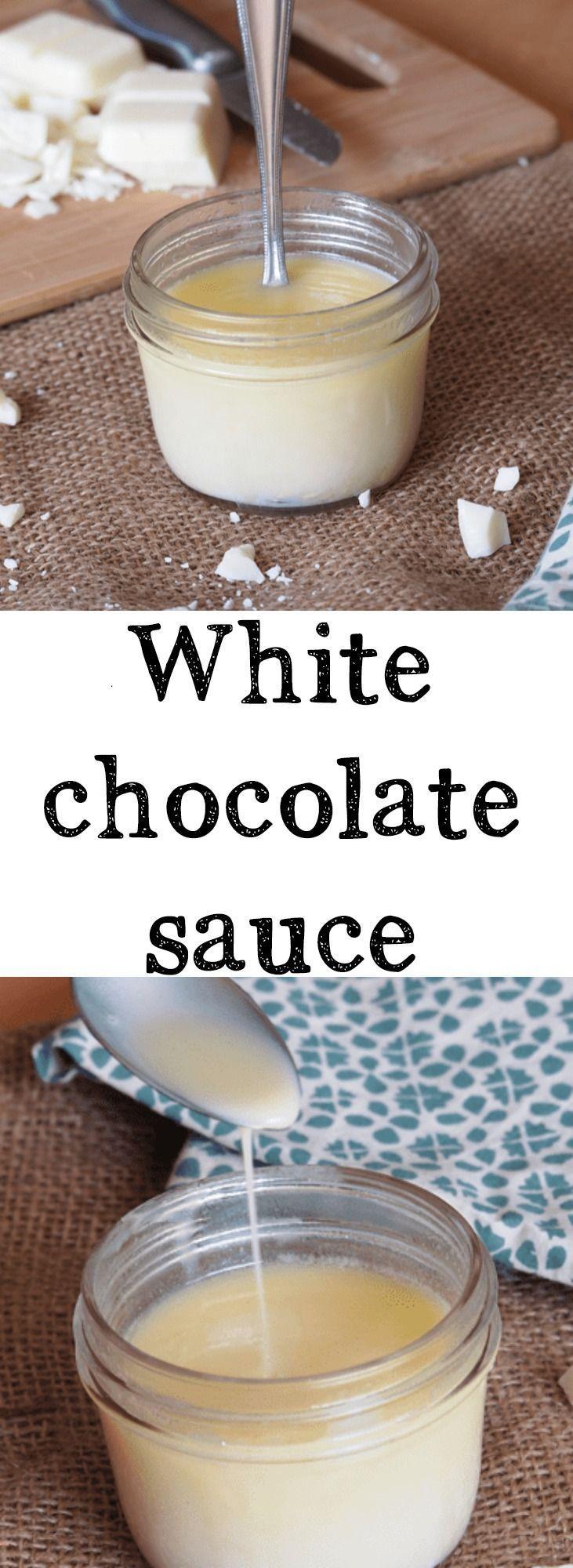 How to make homemade white chocolate sauce this recipe