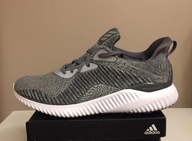 new styles 4f5ad 8b311 New Adidas Alphabounce HPC AMS M Grey Running Reflective Mens Shoes BY4327  Sz 10 fashion