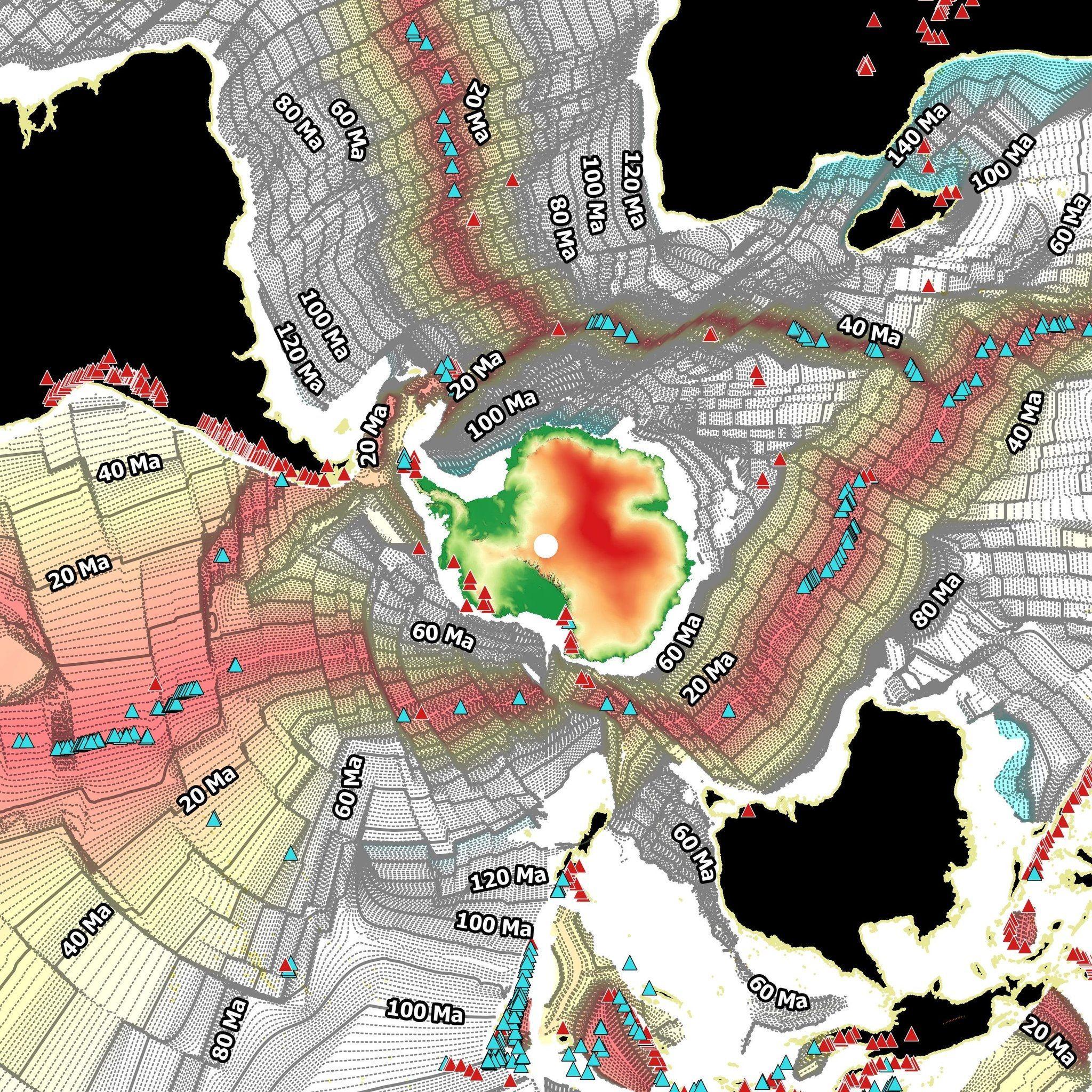 Sea Floor Spreading Centered On Antartica