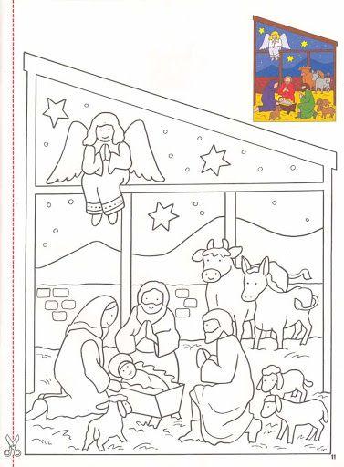 Stránka Nativity Barvení